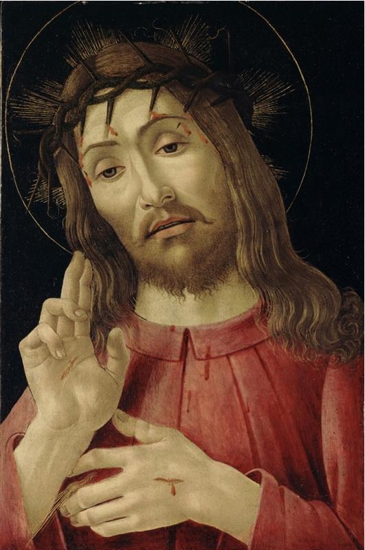 resurrected,Christ,Botticelli