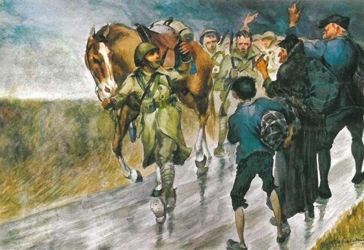 Αποτέλεσμα εικόνας για πινακες ζωγραφικής για 28 Οκτωβριου 1940