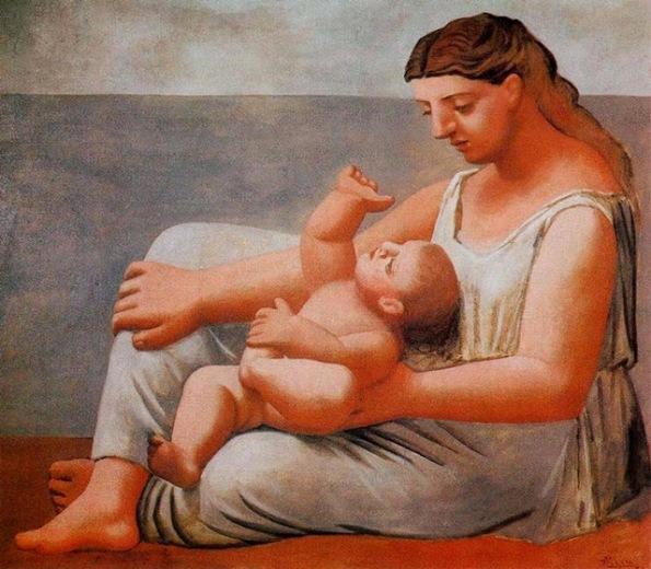 Αποτέλεσμα εικόνας για madre e hijo picasso