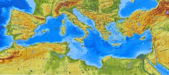 Γεωλογία Γεωγραφία Γυμνασίου: Η Μεσόγειος Θάλασσα